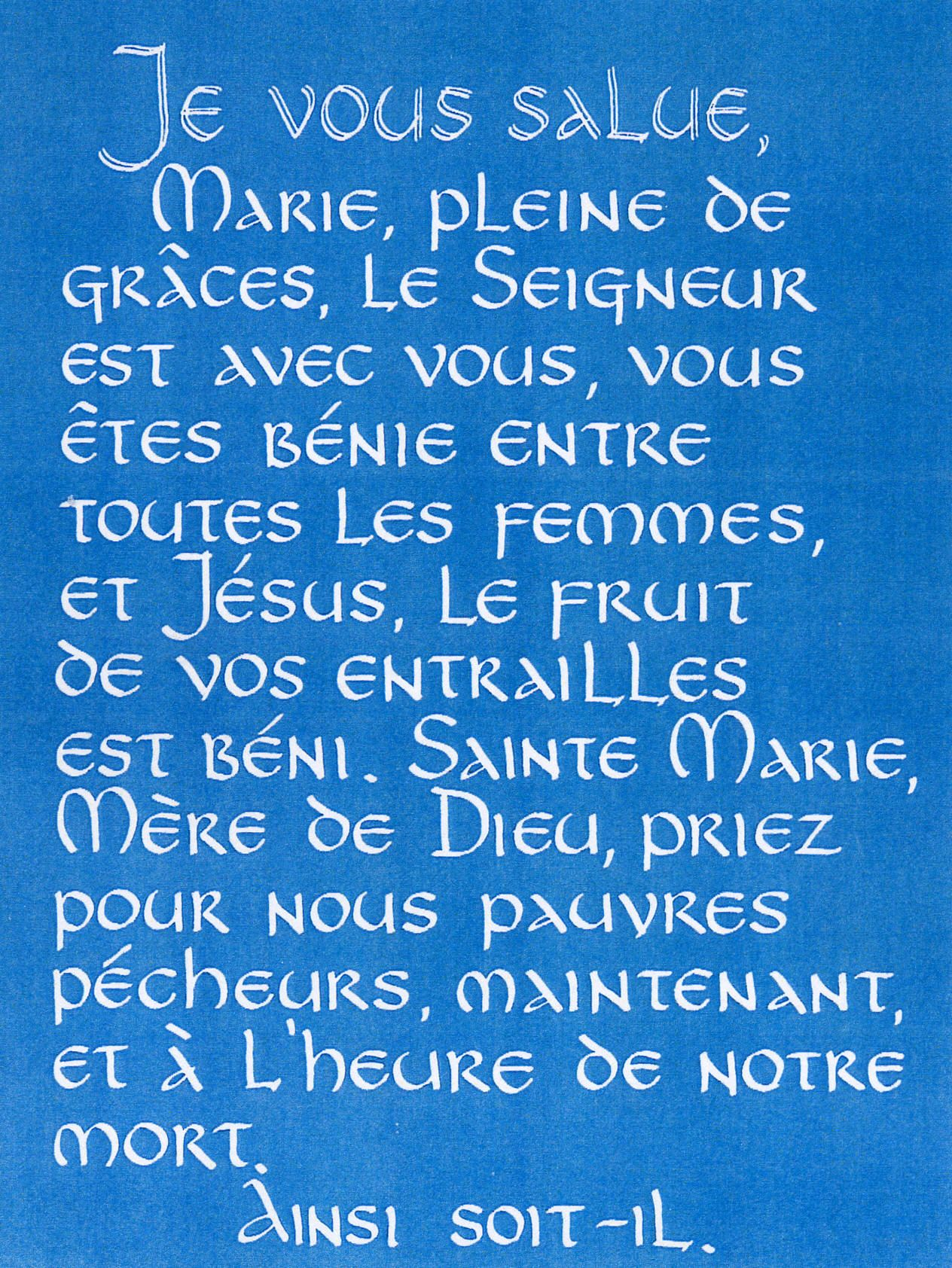 The Hail Mary In Various Languages