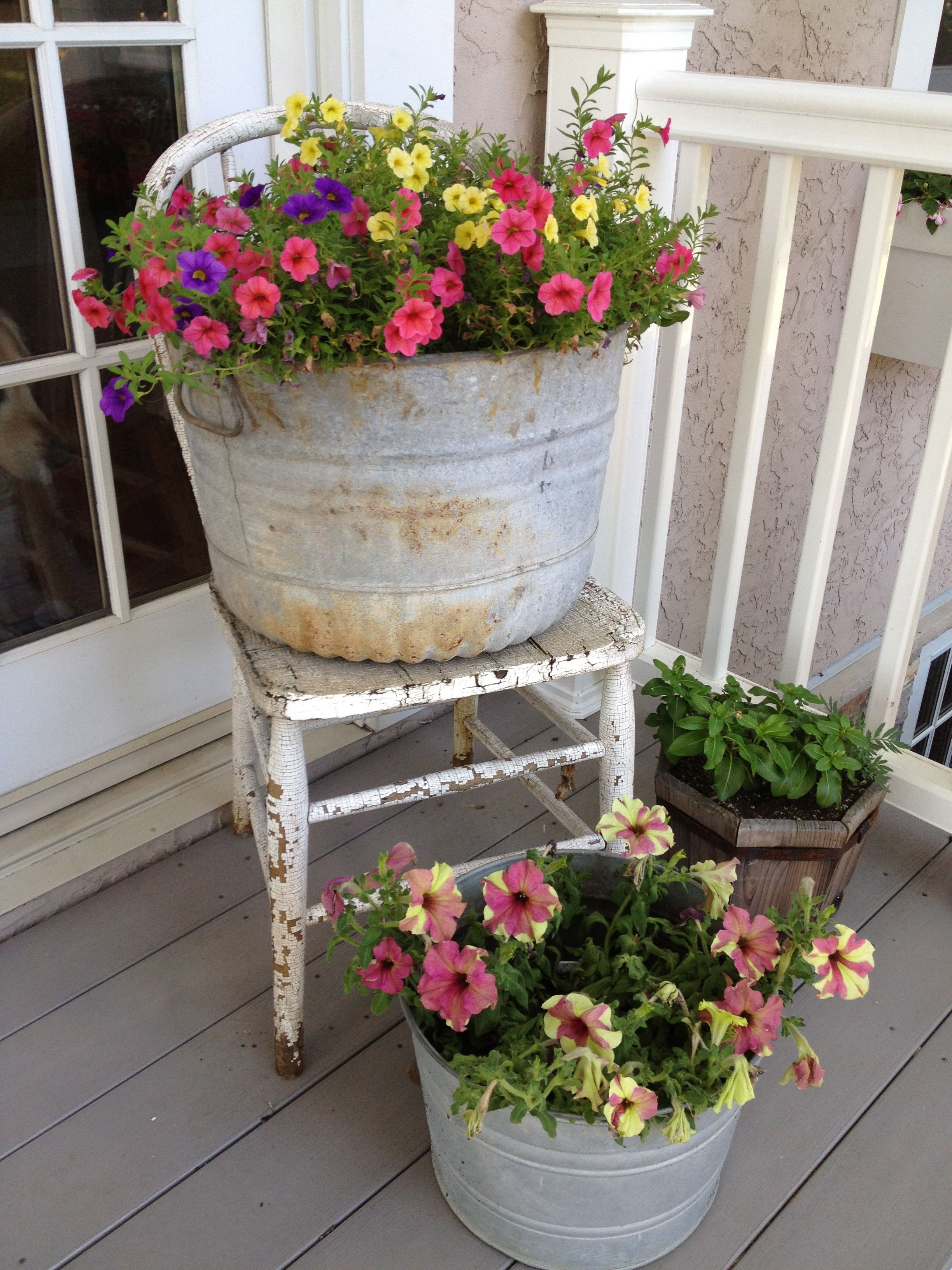 A good way to make use of an old chair that's too rickety ...