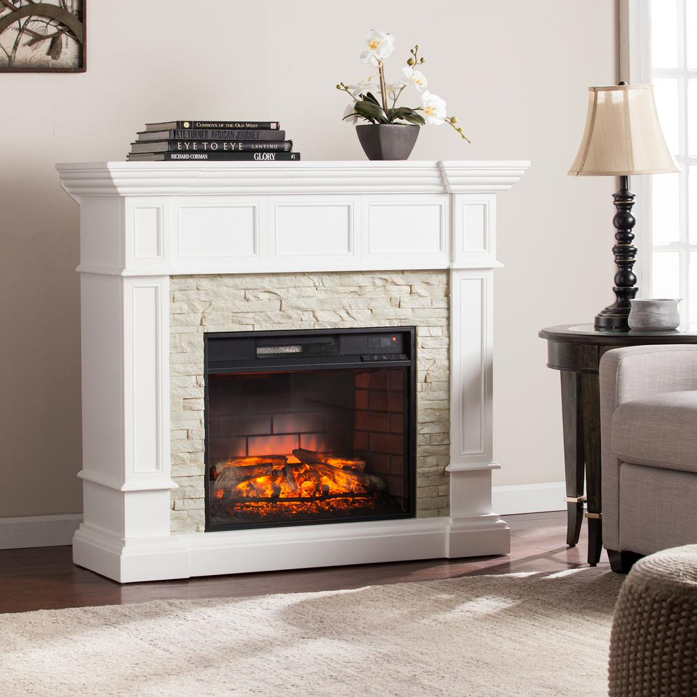 Amesbury 45 5 In W Corner Convertible Infrared Electric Fireplace