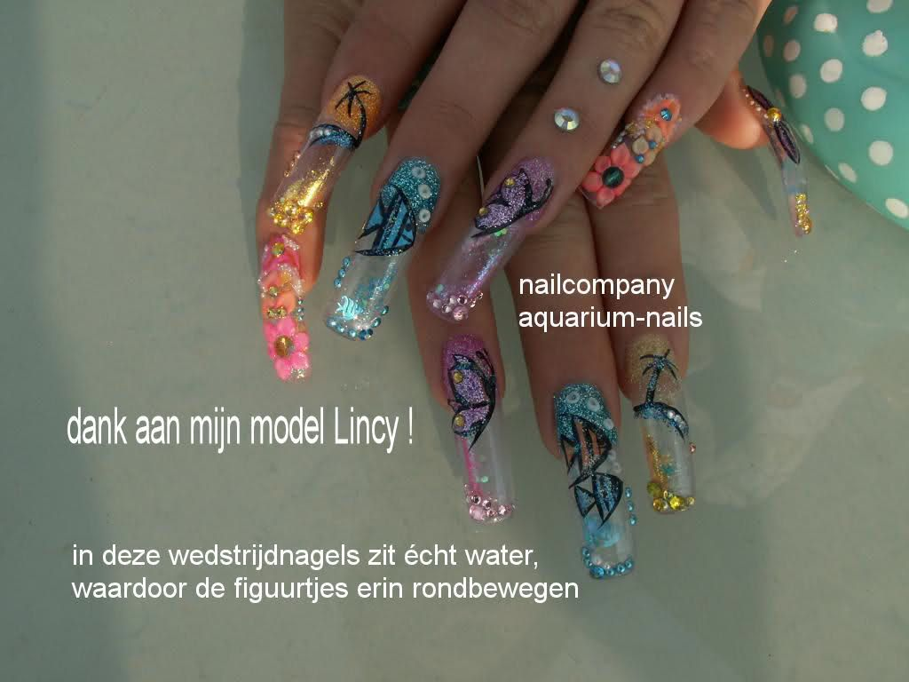 how to make nail designs with water