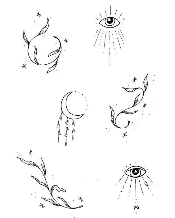 Simple Unique Line Art Tattoo