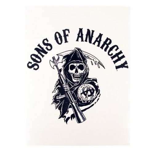 Sons of anarchy temporary reaper tattoo sleeve for Sons of anarchy tattoos