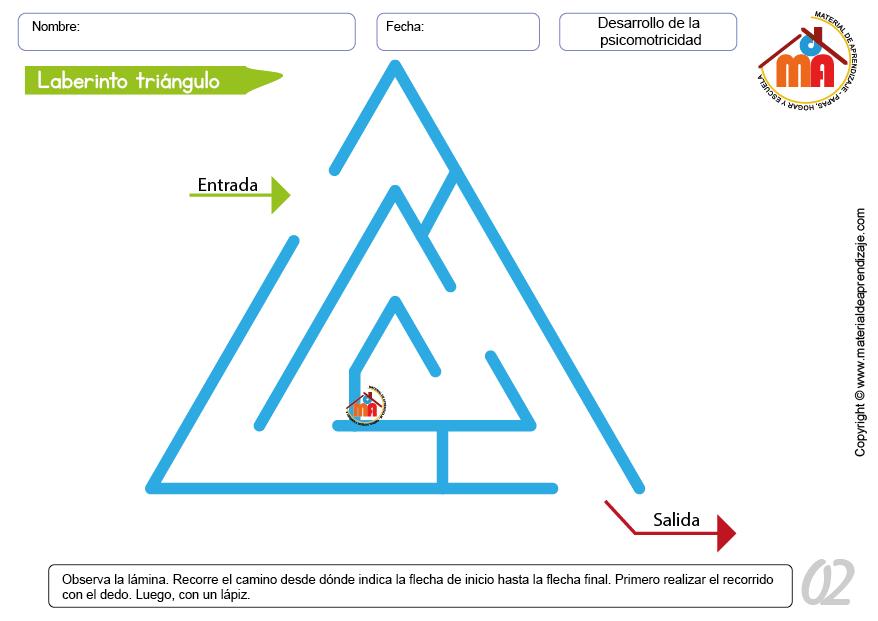 Laberinto triángulo para niños de 2 a 3 años de la serie de ...