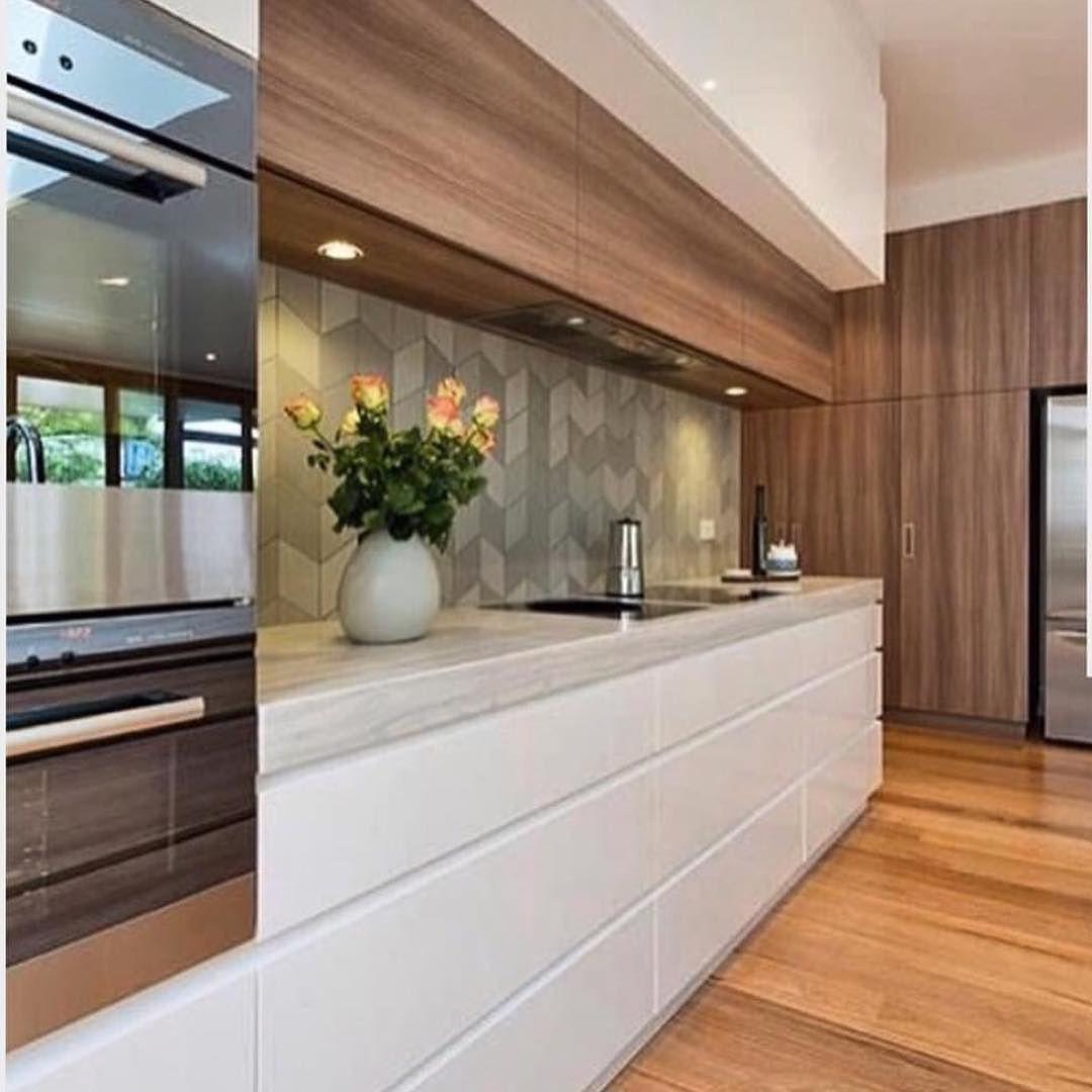 Para A Cozinha Inspo Via Arquiteturadecoracao Madeira Branco Com