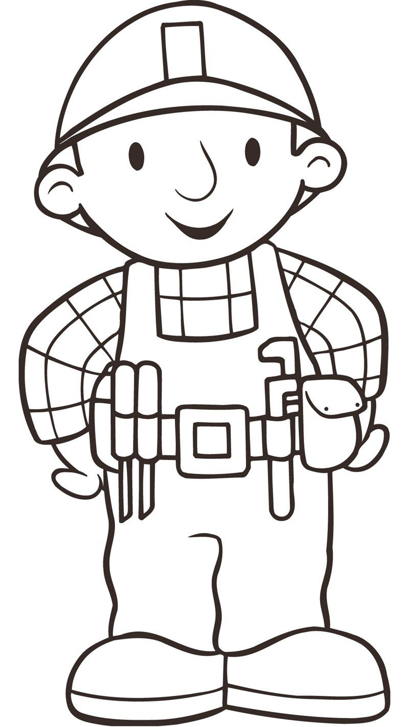 This is an image of Gorgeous Bob the Builder Clipart