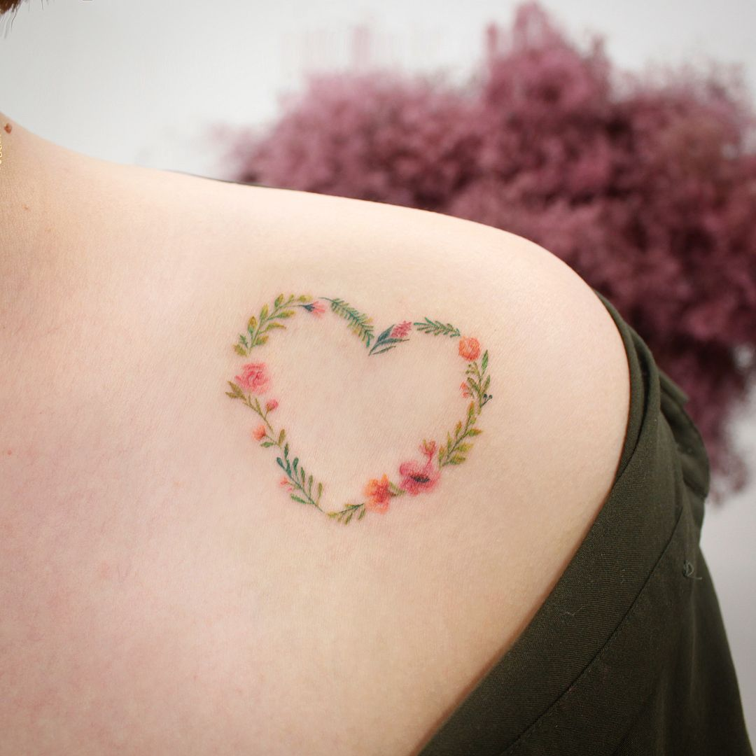 Floral Heart Tattoo Tattoos Heart Tattoo Designs Tattoos For Daughters
