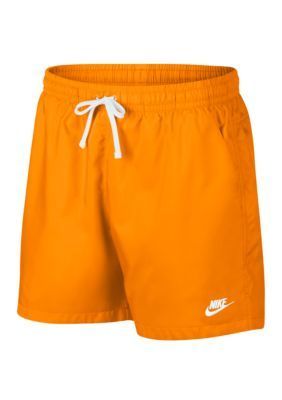 nike woven shorts orange