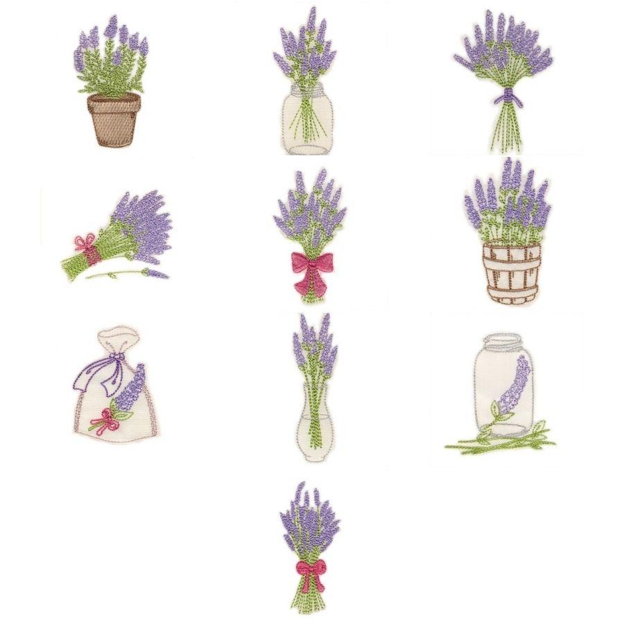 4x4 Lavender OregonPatchWorks Embroidery designs