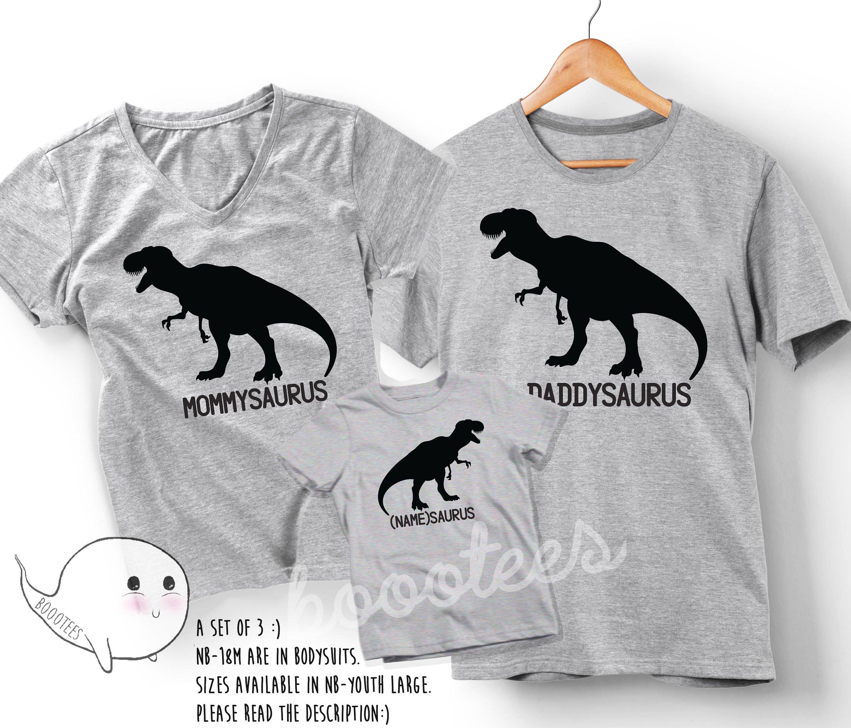 Dinosaur TWO-Rex Family T-Shirt Set (4 Shirt Set) LNH3kLx0