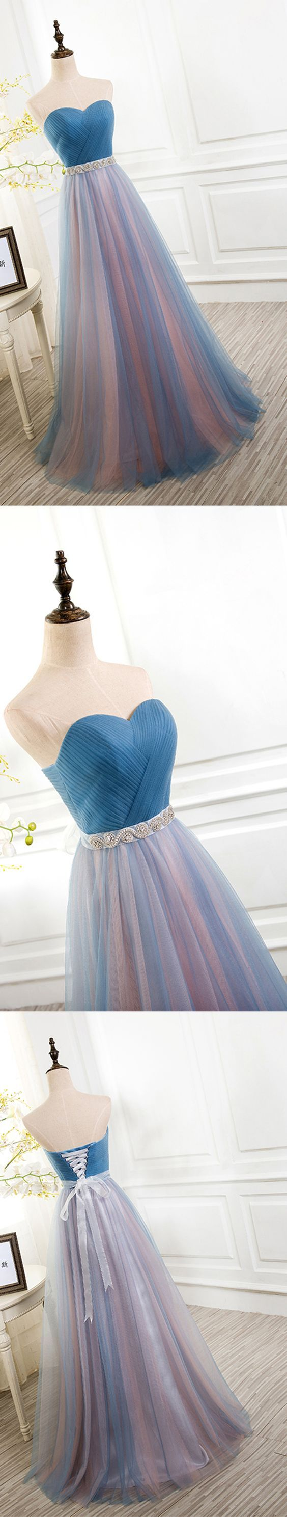 Gorgeous long prom dress sweetheart tulle prom dress promdresses