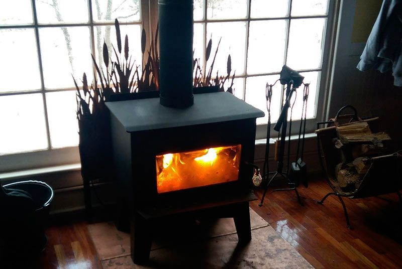 Wood Stove For Heat In A 500 Sq Ft Cabin Drolet Eldorado