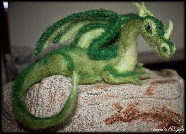needle felted dragon #feltdragon