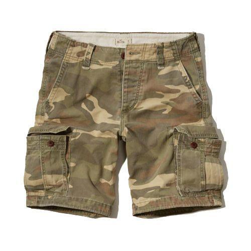 Quick-dry Design Grid Mens Cargo Shorts
