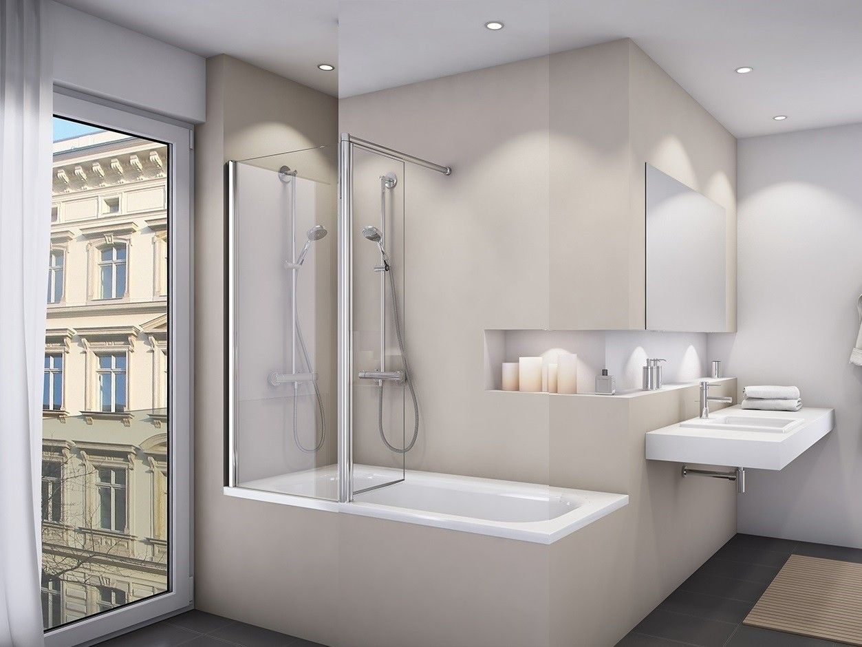 Duschkabine Badewanne 160 X 150 Cm 2 Teilig Duschkabine