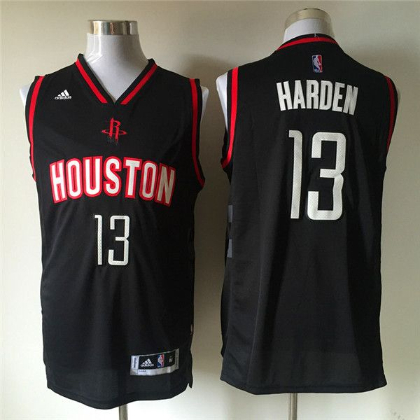 5207e787c Houston Rockets  13 Harden Black Men 2017 New Logo NBA Adidas Jersey ...