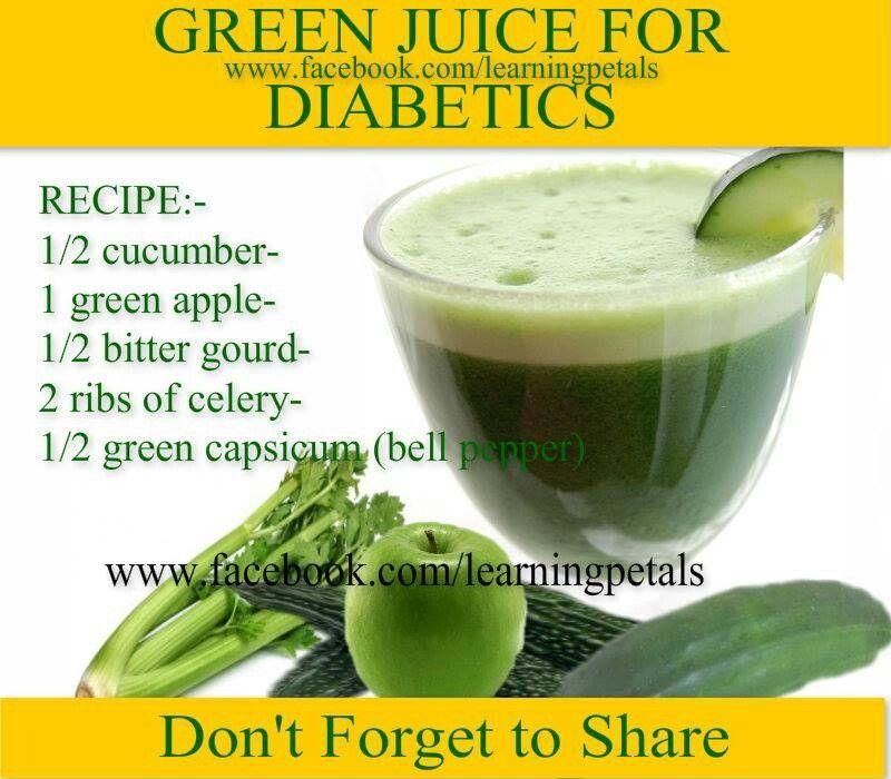 Green Juice For Diabetics Juice For Diabetes Diabetic Recipes Bitter Melon Recipes