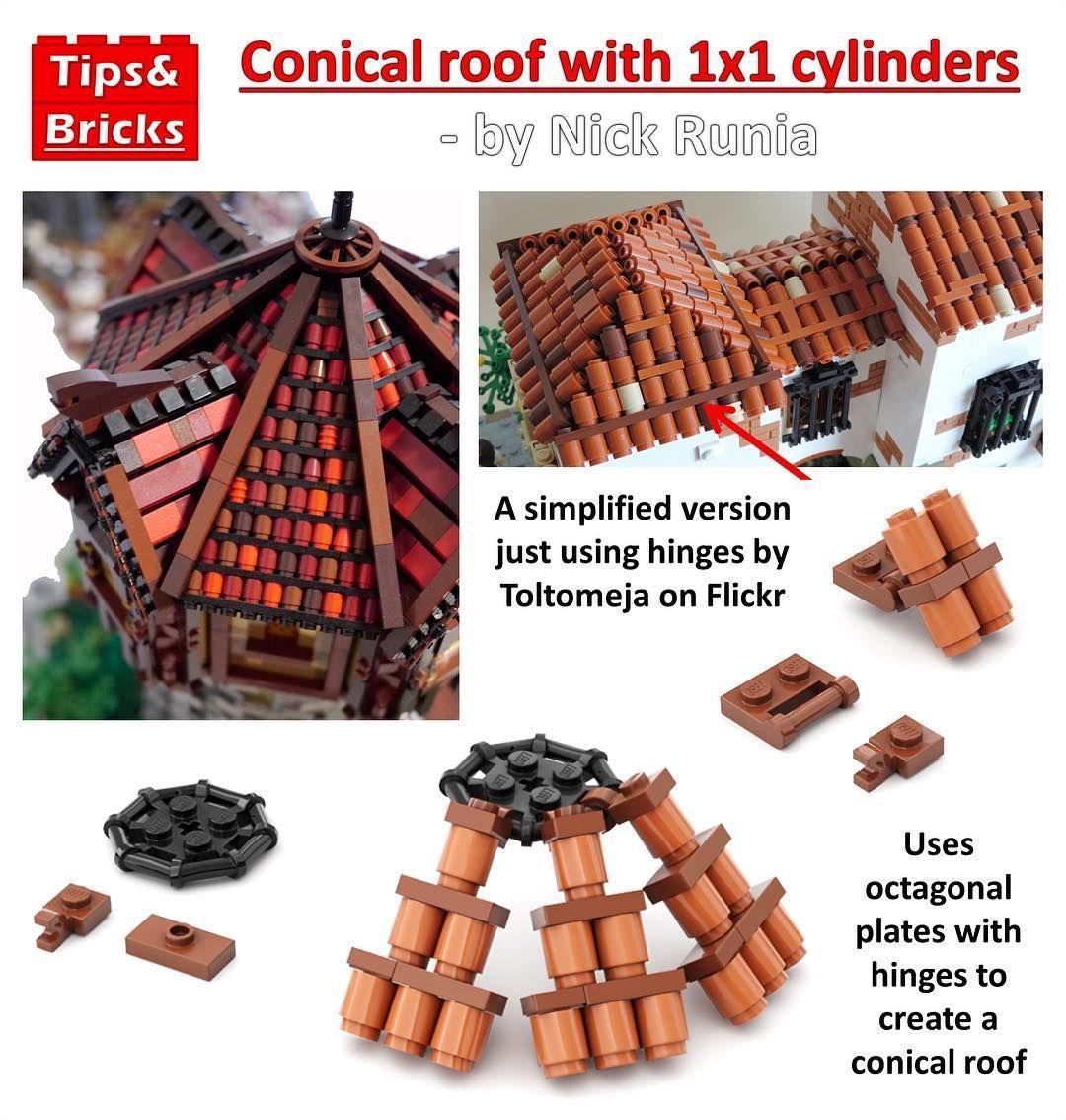 55 Cones For Each Side Lego Design Lego Lego Creations
