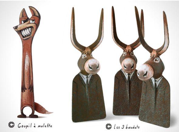 illustrations par gilbert legrand d tournement dobjets en personnages loufoques. Black Bedroom Furniture Sets. Home Design Ideas