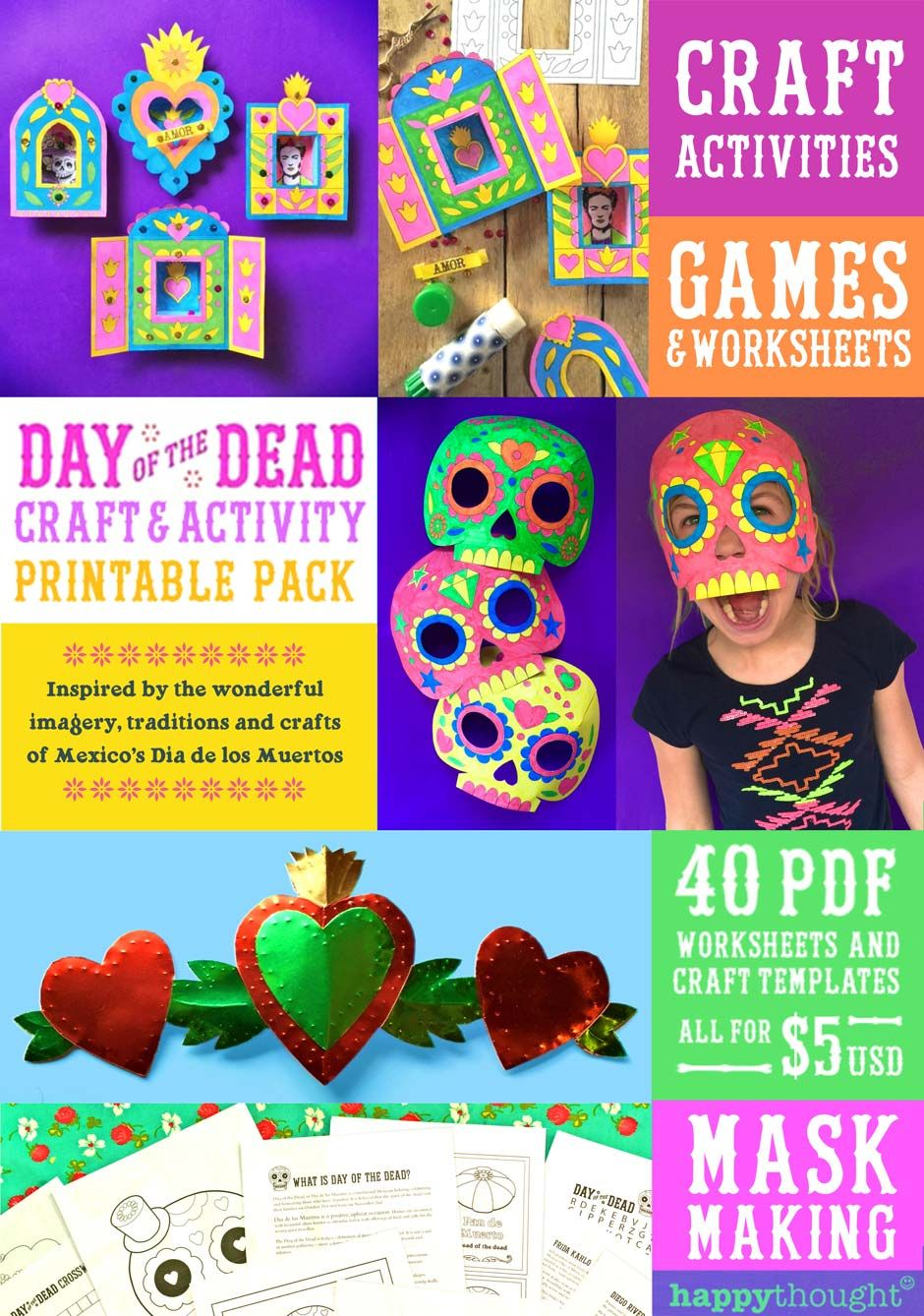 worksheet Day Of The Dead Worksheets download day of the dead printable craft templates parents print worksheets in english and fun kids activity