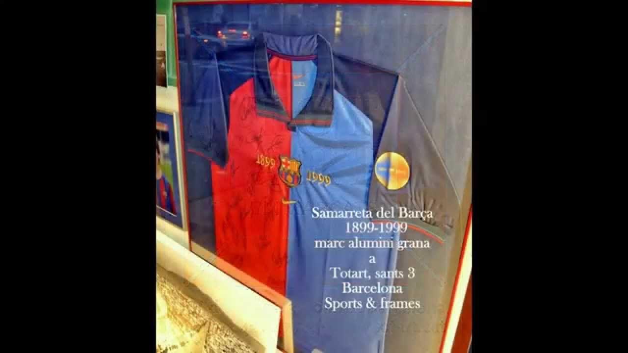 Molduras y marcos para enmarcar tus camisetas de fútbol en Barcelona ...
