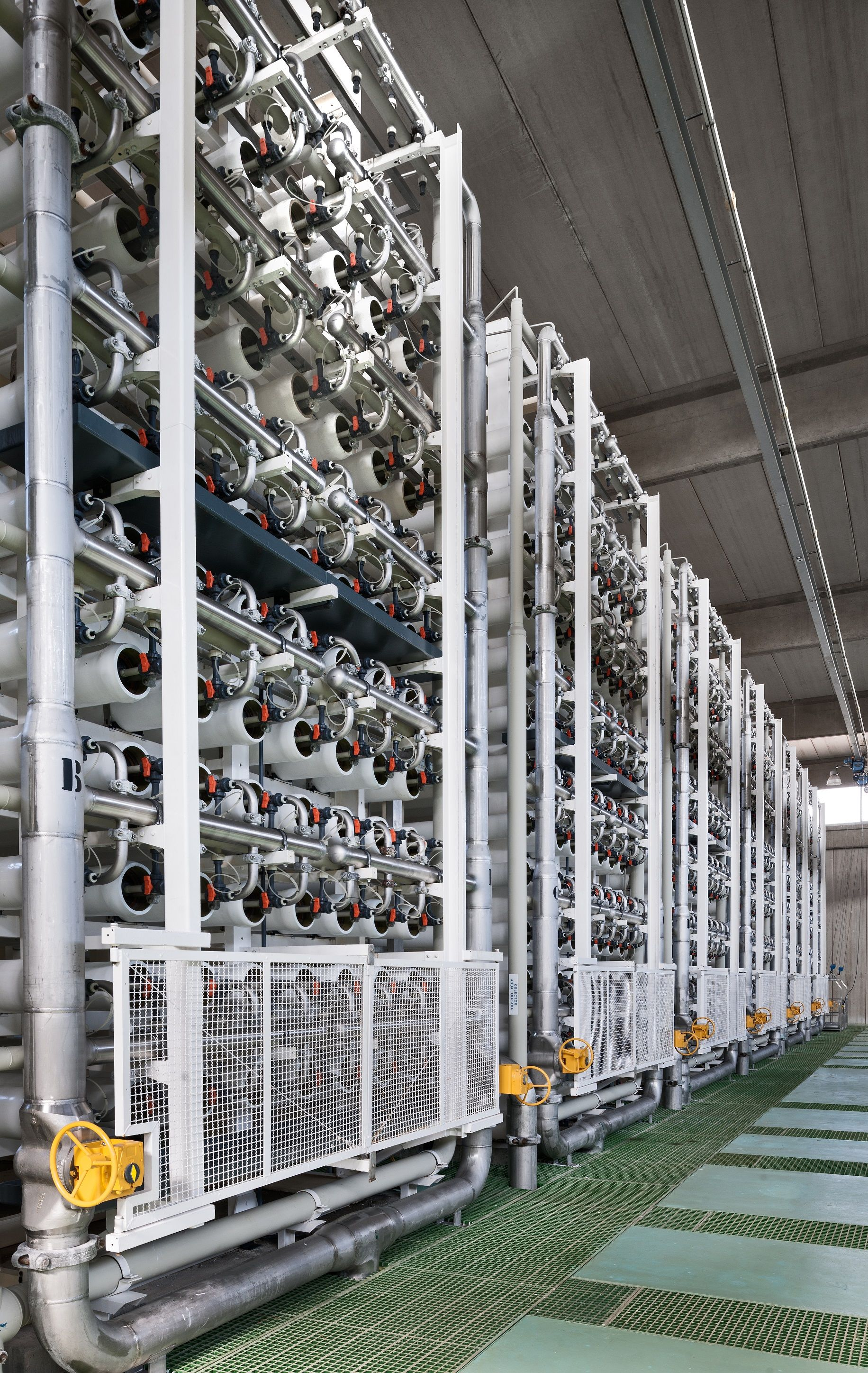 Reverse osmosis membranes in the Qingdao desalination plant