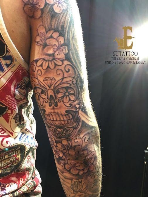 Sign In Tattoos Sugar Skull Tattoos Black And Grey Tattoos For Men