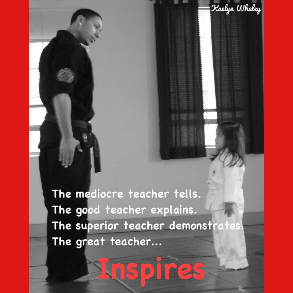 Taekwondo Quotes If Your Teacher Inspires You Please Like & Share  Martialarts