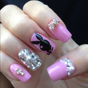 Playboy nails nail art pinterest makeup celebrity nails and playboy nails prinsesfo Image collections