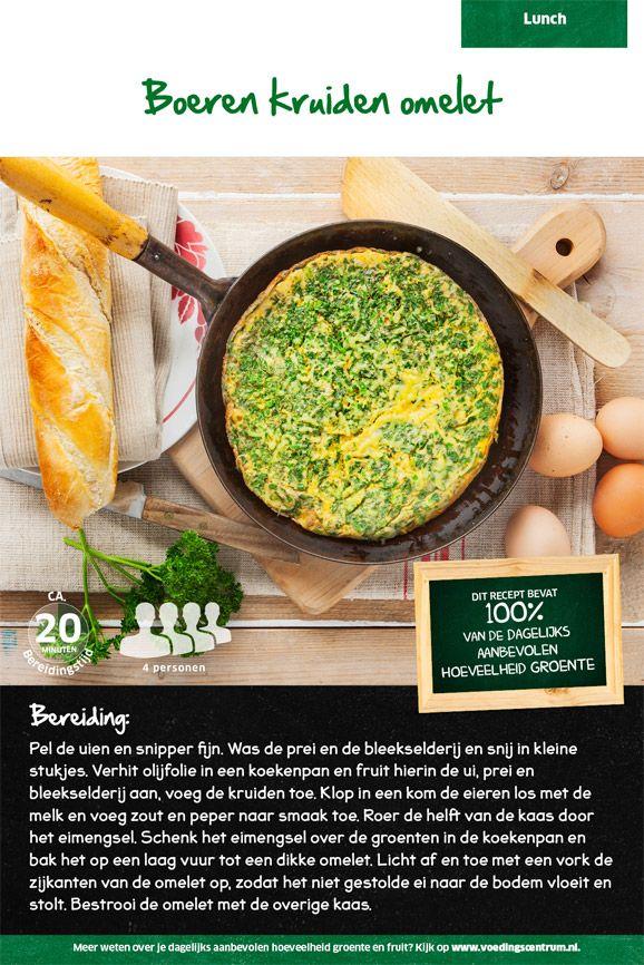 Recept voor boeren kruiden omelet #Lidl | Lidl recepten