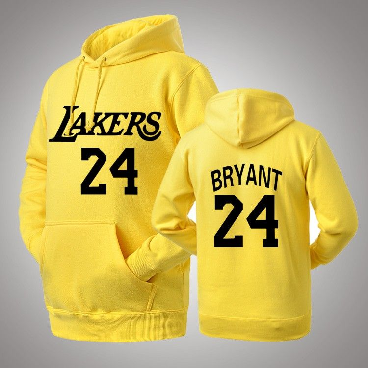 NBA Los Angeles Lakers Kobe Bryant  24 logo pullover hoodie ... 10150e5bf
