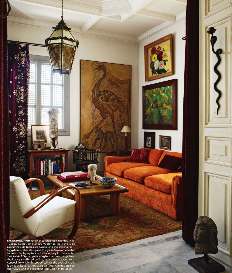 Retro Living Room Ideas And Decor Inspirations For The: Maximalist Salon In Spicy Autumn Tones