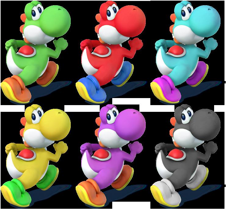 Yoshi Ssb4 Recolors By Shadowgarion D7duh4y Png 741 684 Mario Mario Kart Super Mario World