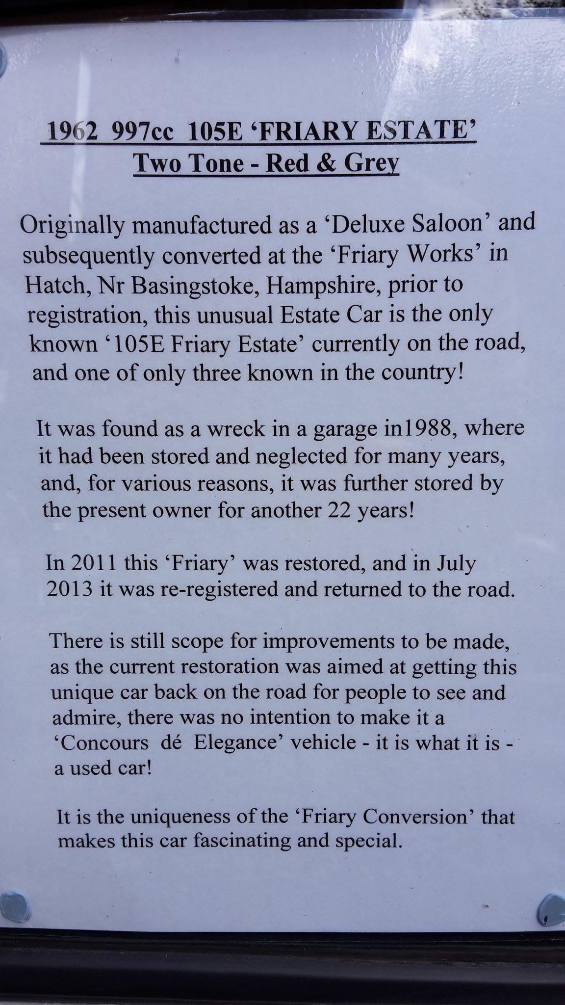 Classic Car Curation Ford Anglia Classic Cars Basingstoke