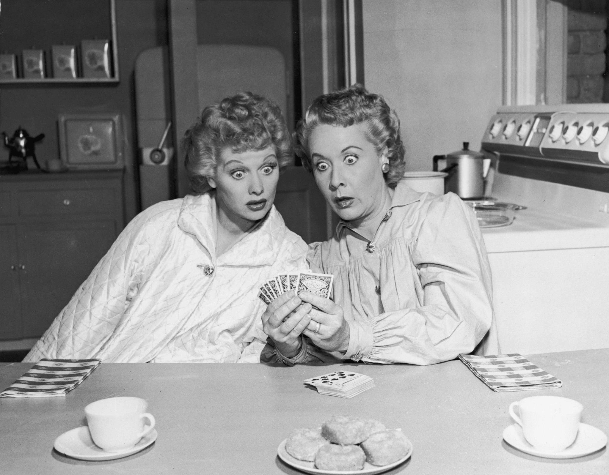 I LOVE LUCY Lucy Ricardo (Lucille Ball) Ethel Mertz (Vivian Vance ...