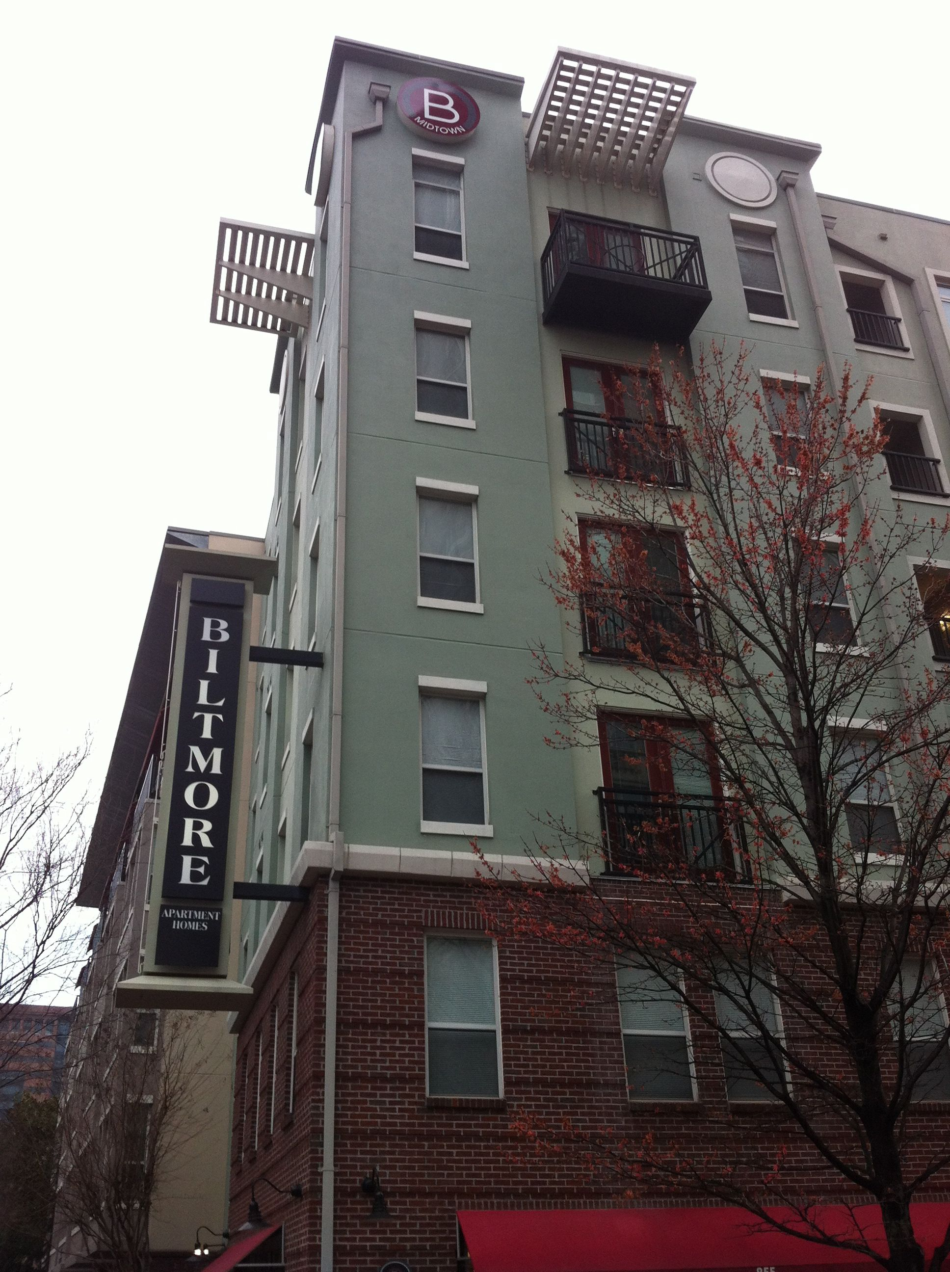 The Iconic Post Name Is Gone From Its Landmark Apartment Complex Next To The Biltmore In Midtown Atlanta Earlier This Wee Apartment Complexes Biltmore Midtown