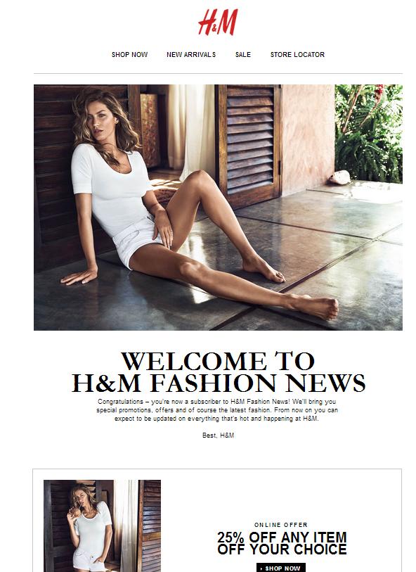h m welcome welcomeemails emailmarketing email newsletter welcome newsletter. Black Bedroom Furniture Sets. Home Design Ideas