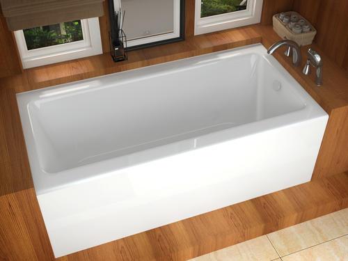 Midwest Tubs Trails 30 X 60 White Right Drain Soaking Bathtub In 2020 Jetted Bath Tubs Built In Bathtub Bathtub