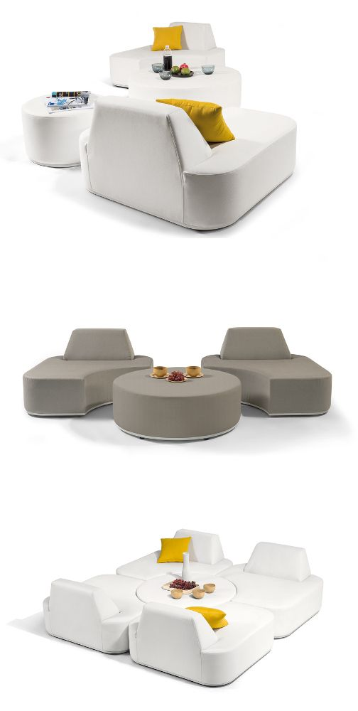 Moon island collection at maison objet 2014 the outdoor for Mobili colorati moderni