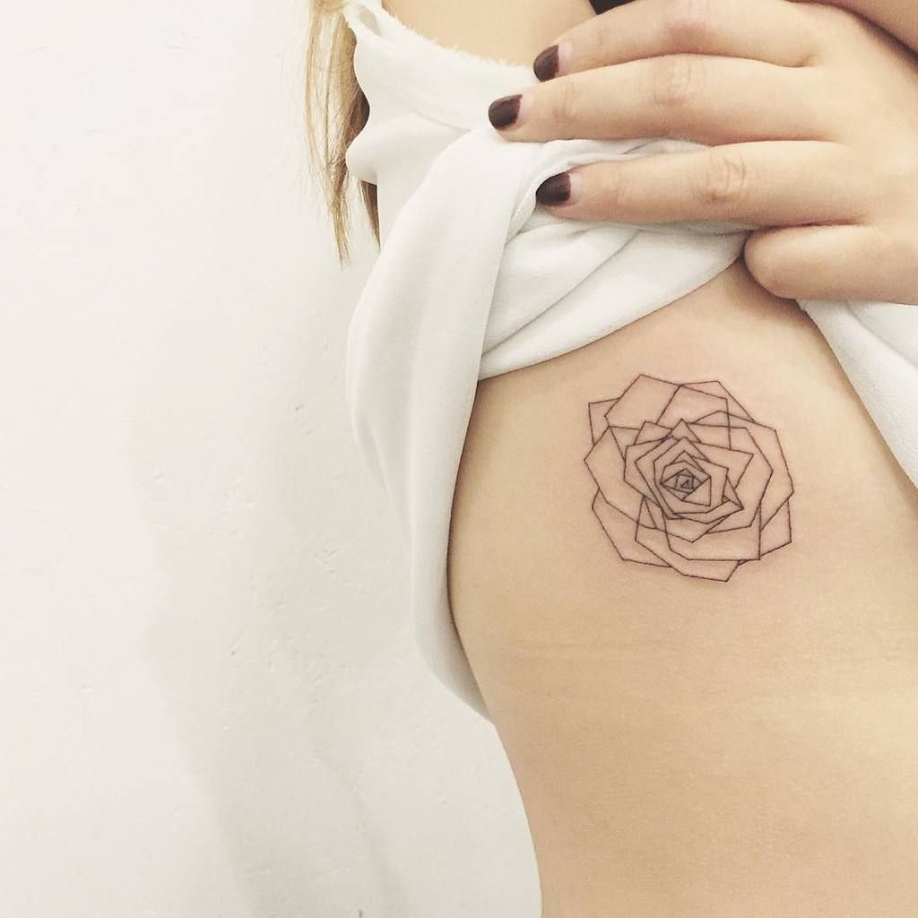 Rose Tattoos With Words Google Search: Geometric Rose Tattoo - Google Search