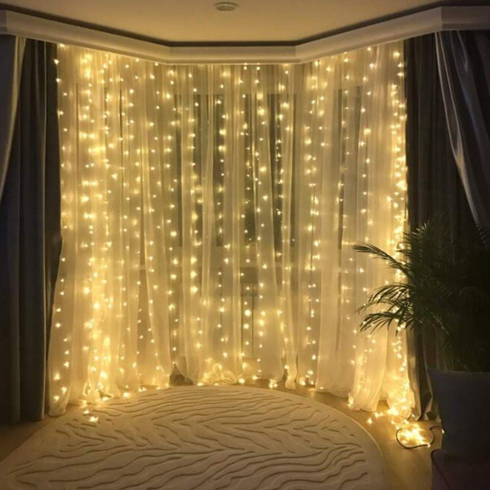 LYUMO Christmas Curtain Lights, Window Curtain Lig