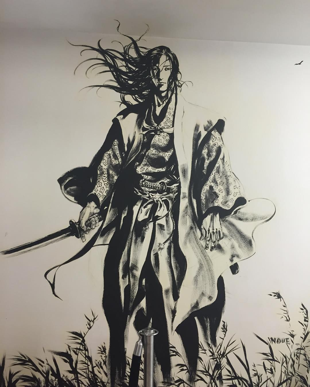 Awesome Wall Painting Wall Kinokuniyabookstore Japan Japanese