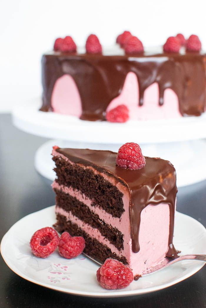 schoko himbeer torte mit cremiger ganache sweets pinterest chocolate raspberry cake. Black Bedroom Furniture Sets. Home Design Ideas