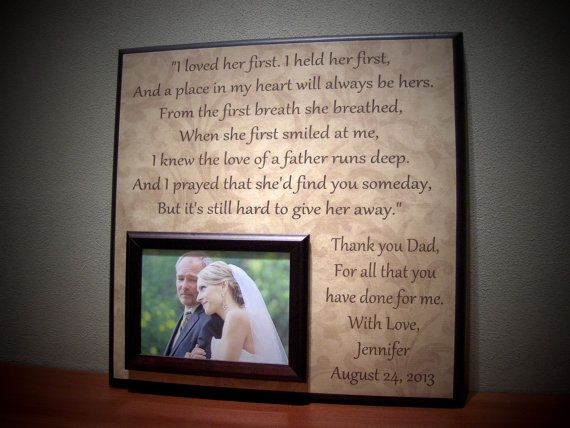 Personalized Father Of The Bride Gift Wedding I Loved Her First