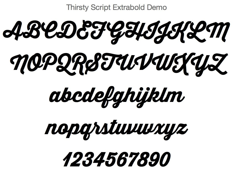 thirstyscriptextrabolddemo font