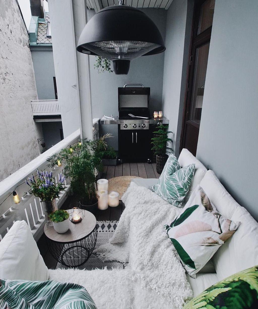36 Awesome Small Balcony Garden Ideas #apartmentbalconydecorating