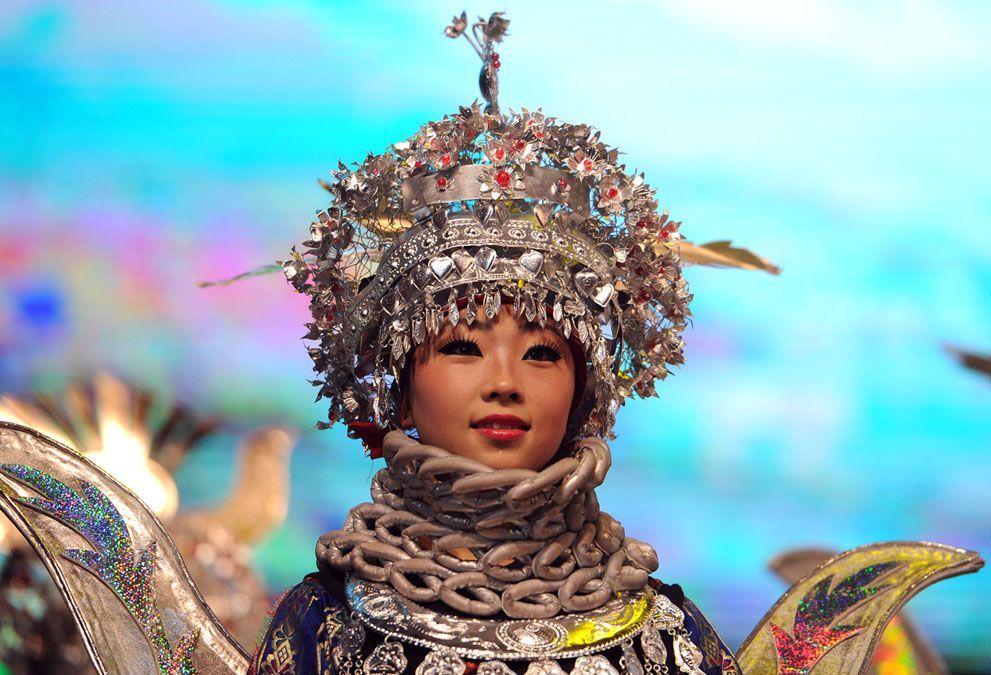 A dancer from Guiyang, Guizhou, China