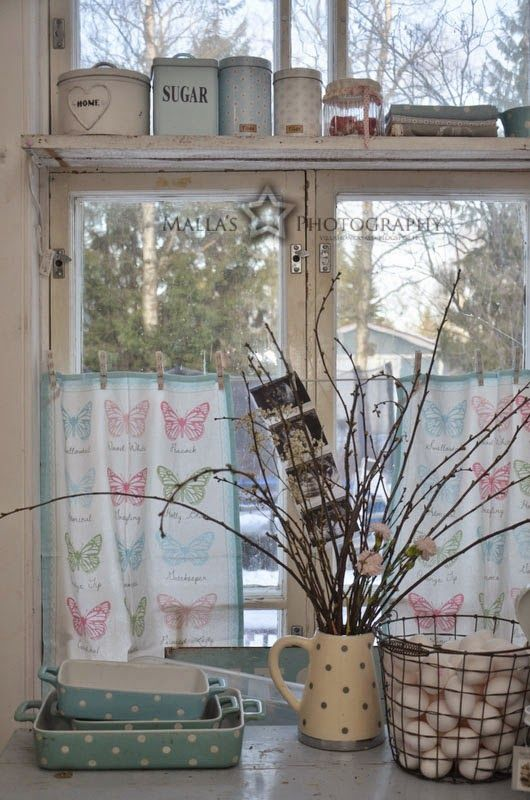 I am pinning this to try to remember to try this curtain idea when I get my new house.