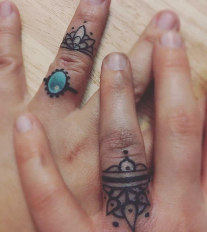 #wedding #ring #tattoo #finger #lgbt