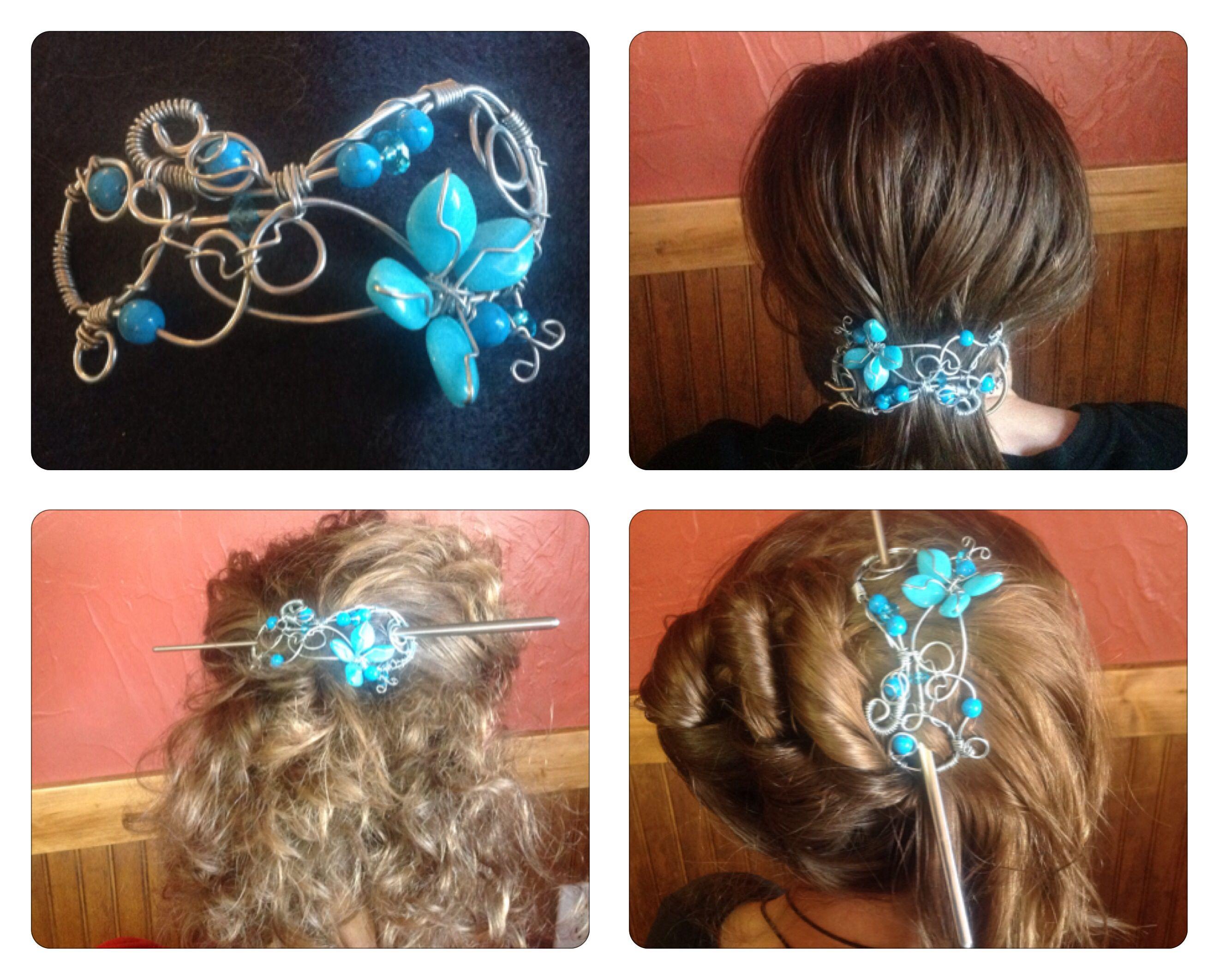 Gorgeous hair pieces. No info
