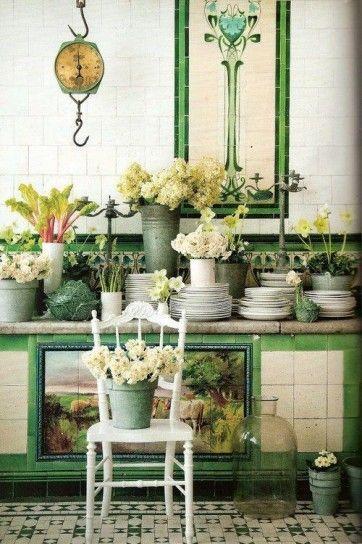 Arredare casa con il verde nel 2019 | cucina | Küche, Blumen e Garten